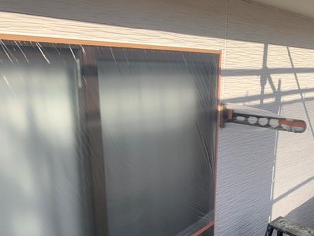 外壁塗装 下地処理 窓 養生