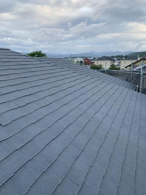 高圧洗浄後屋根