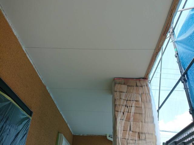 成塚邸 軒天井塗装