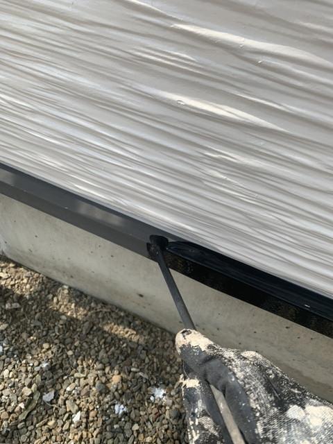 外壁塗装 付帯部塗装 土台水切り