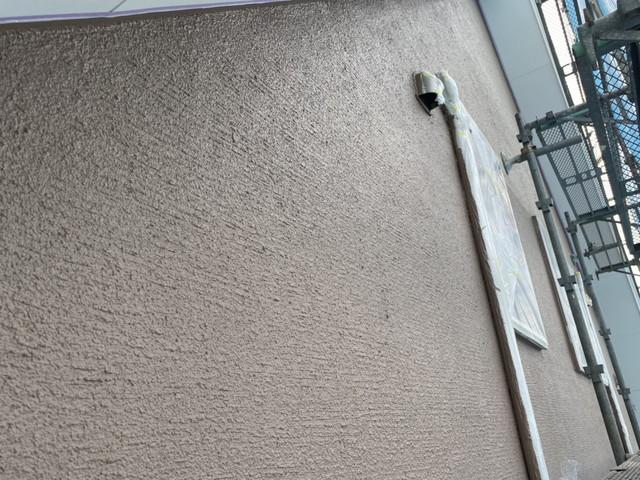 成塚邸 外壁中塗り