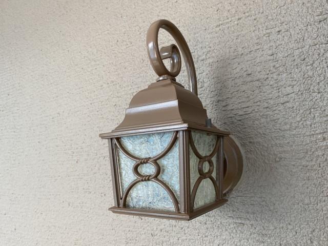 玄関ライト 塗装