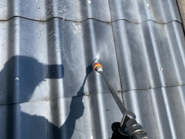 瓦屋根 高圧洗浄
