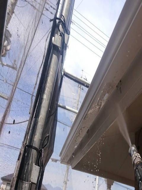 屋根塗装 高圧洗浄 鼻隠し 雨樋裏