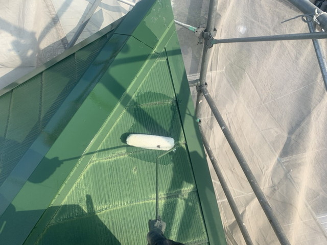 屋根下塗り