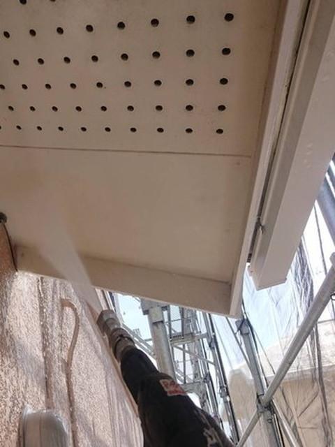 屋根塗装 高圧洗浄 軒天井