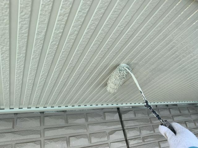 軒天井上塗り