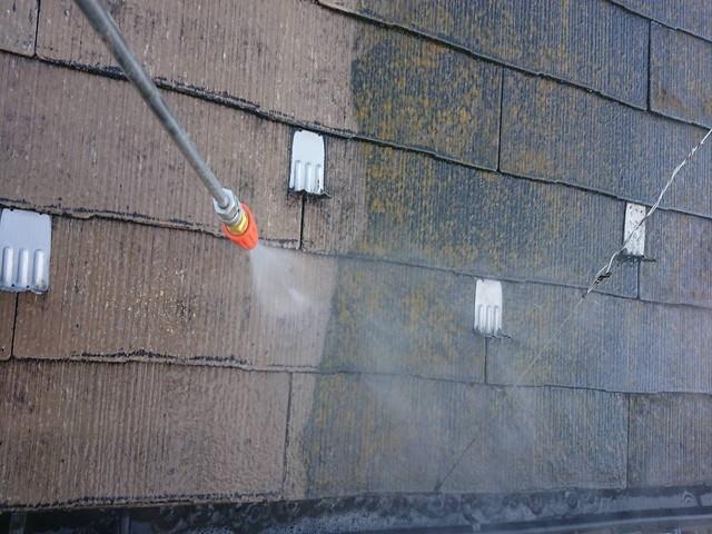 塗装工事 屋根 高圧洗浄