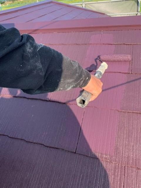 リフォーム 屋根塗装 上塗り 仕上げ塗り