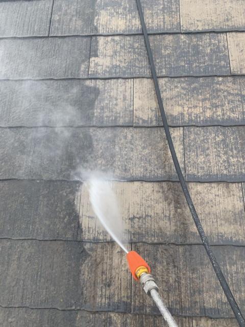 リフォーム 屋根 塗装前 高圧洗浄