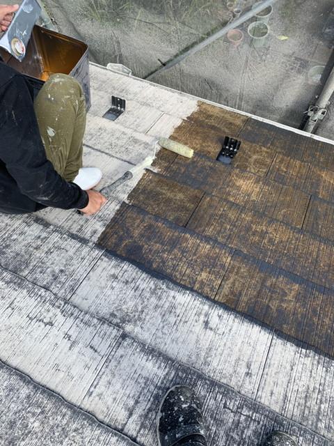 リフォーム 屋根塗装 下塗り