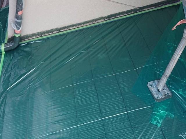 外壁塗装 養生 屋根