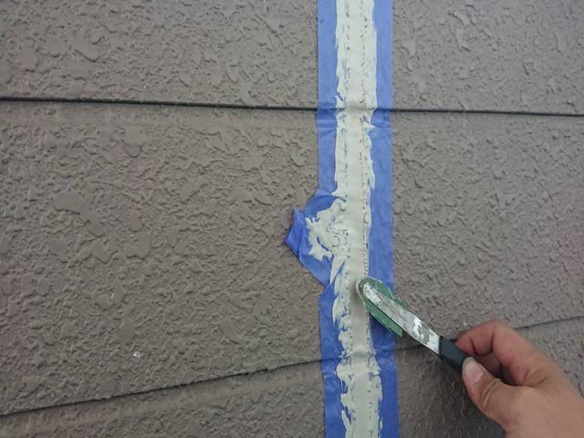 外壁塗装前 コーキング工事 コーキング剤充填