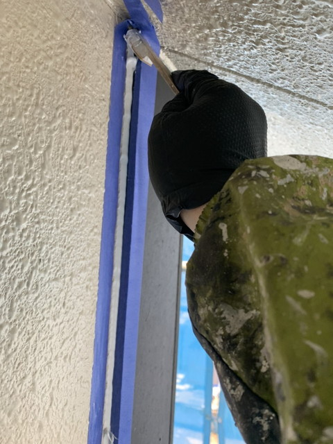外壁塗装工事 コーキング工事 プライマー塗布