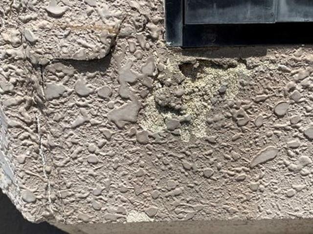 外壁塗装 現地調査 サイディング 吹付塗装 劣化 欠け・割れ