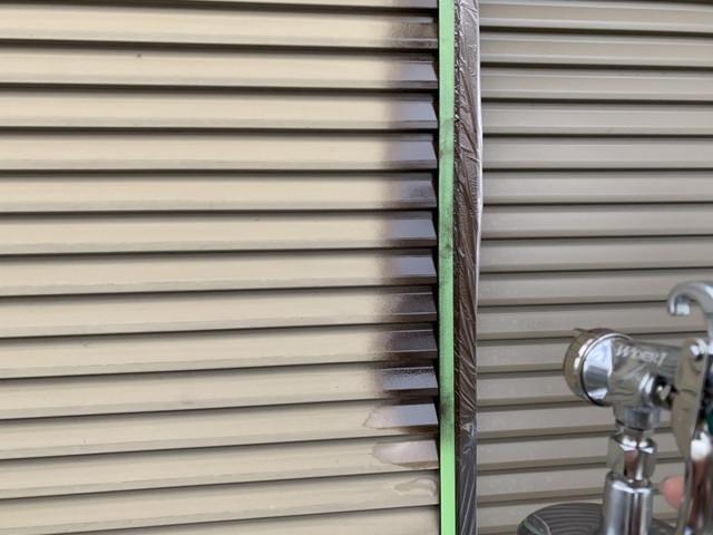 雨戸吹き付け塗装