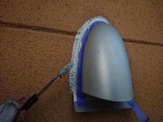 外壁塗装 下地調整 排気口廻り