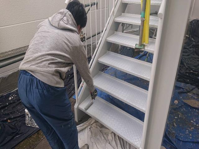 鉄骨階段 塗装