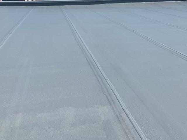 陸屋根 塗装 中塗り完成