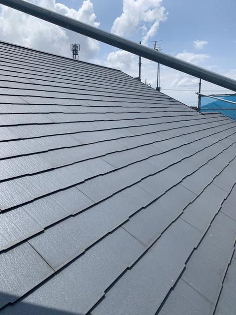 屋根高圧洗浄後