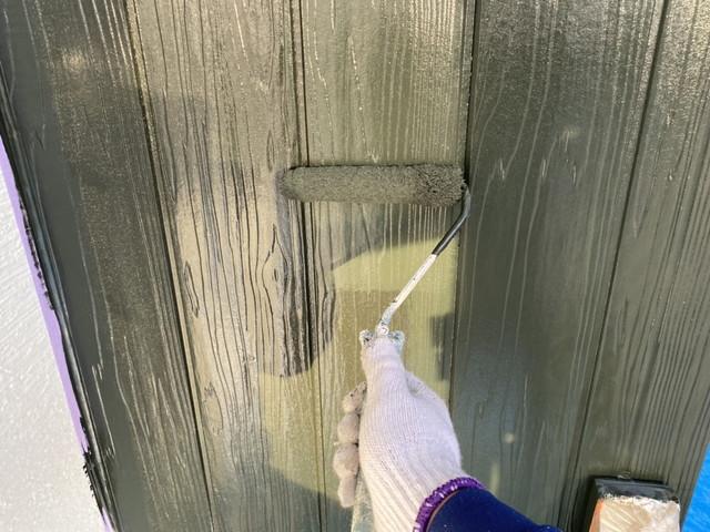外壁 木目 中塗り