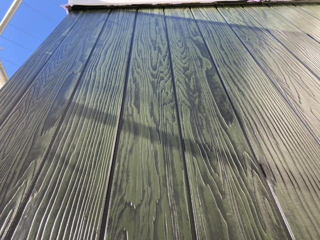 外壁 木目 上塗り