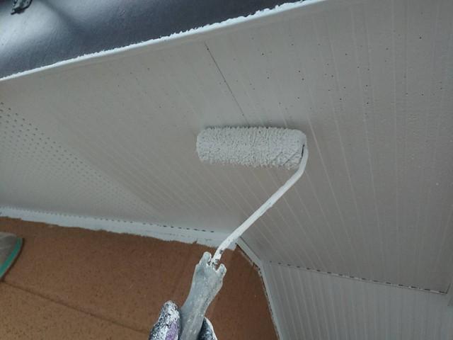 軒天井 中塗り