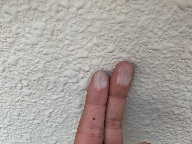 外壁塗装 現地調査 さんとうばん 劣化 手に粉 チョーキング現象