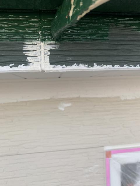 破風板 中塗り