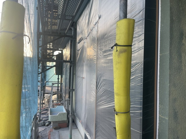 群馬県高崎市でマスキングテープやマスカーテープを使い養生しました