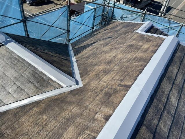 屋根板金部錆止め塗装