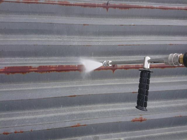 屋根塗装 高圧洗浄 折半屋根