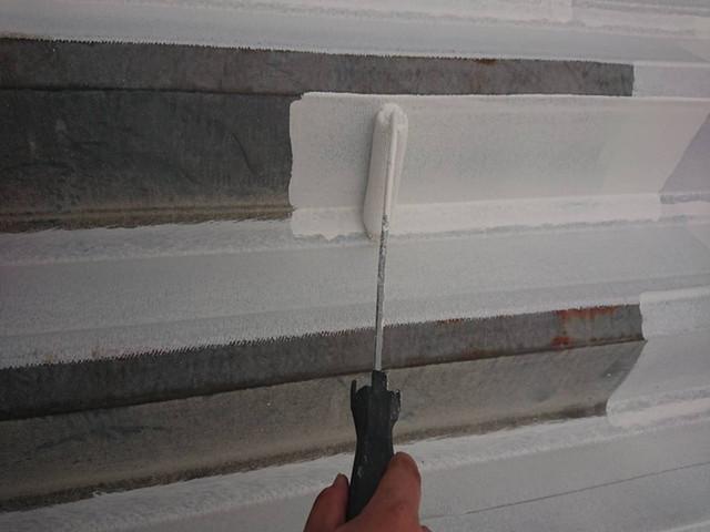 屋根塗装 折半屋根