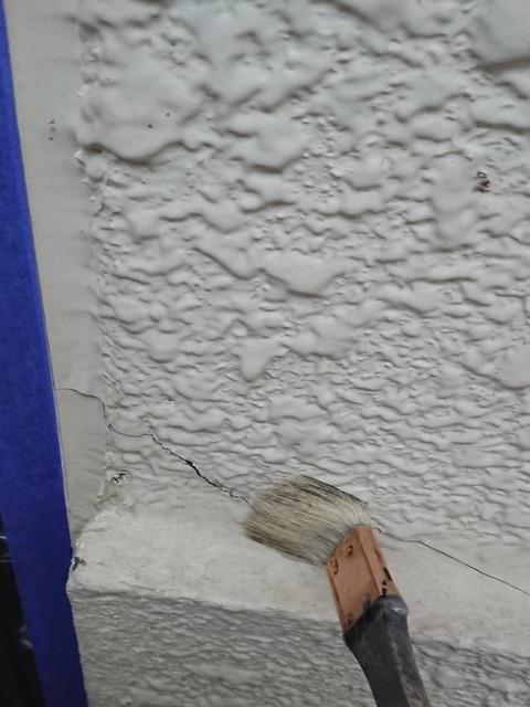 外壁塗装 下地調整 ひび割れ プライマー塗布