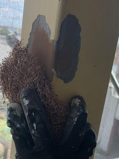 外壁塗装 鉄部塗装 ケレン作業