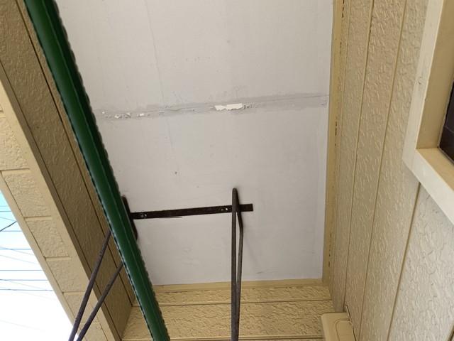 現地調査 アパート 軒天井 劣化