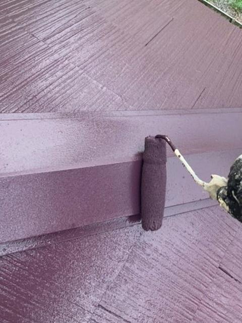 屋根塗装工事 棟板金