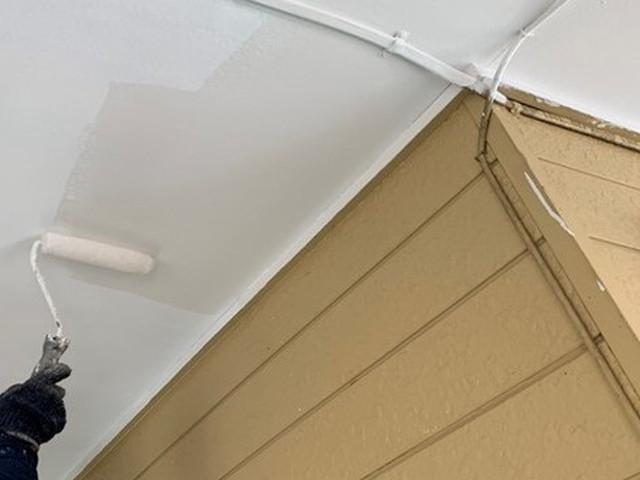 アパート リフォーム 軒天井 塗装