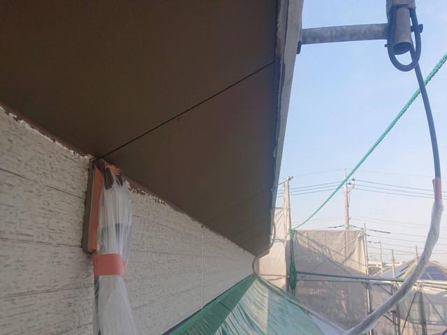 軒天 塗装後