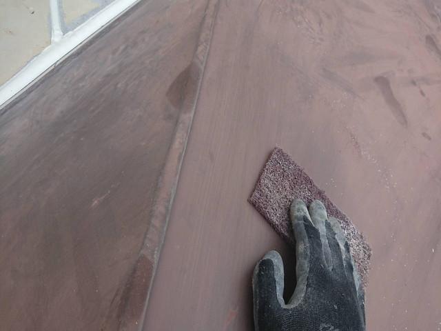 外壁塗装 ケレン作業 鉄部