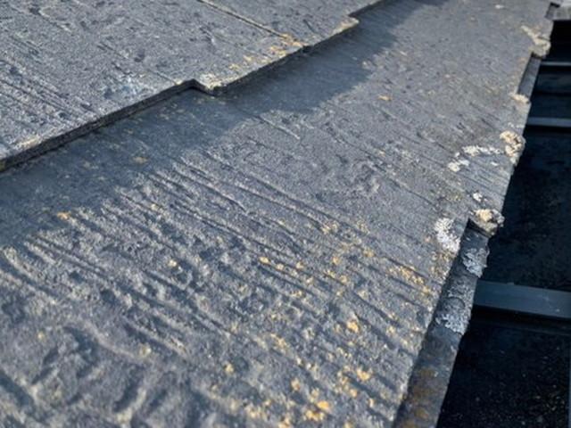 現地調査 屋根 化粧スレート 劣化 カビ コケ