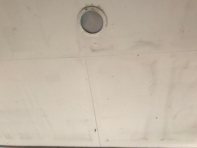 現地調査 軒天井 劣化