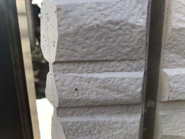 外壁 現地調査 ヒビ 劣化