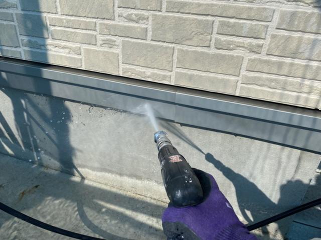 高圧洗浄 土台水切