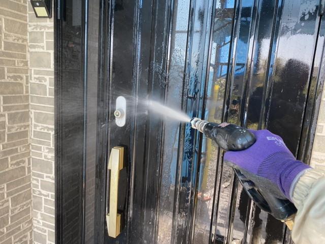 高圧洗浄 玄関ドア