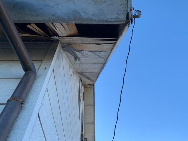 工事前の軒天井