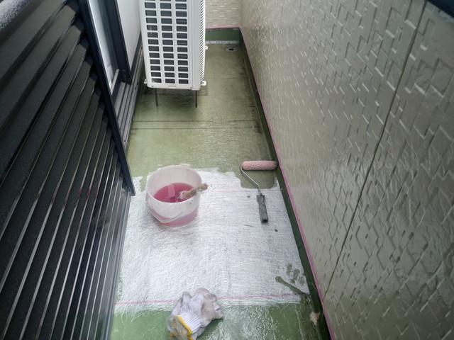 ガラスマット敷き