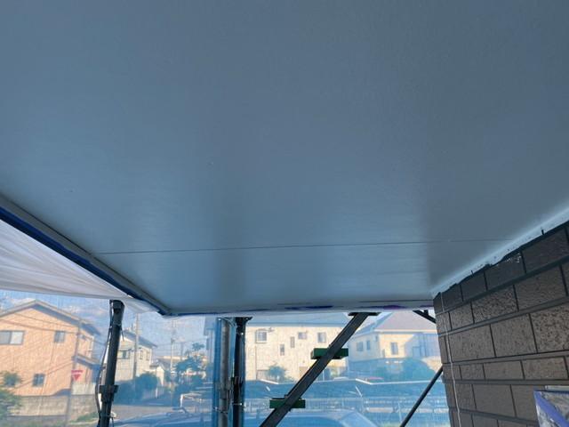 軒天井 塗装 仕上がり