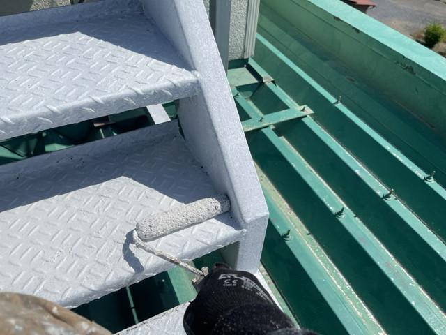 鉄骨階段 錆止め塗装