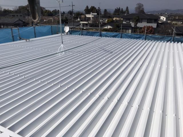 折板屋根 仕上がり
